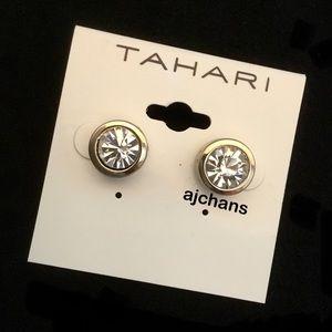 Tahari Gold Tone Stud Earrings